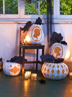 Silhouette Pumpkins! Halloween crafts