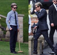 Niall Horan today at Louis Tomlinson's mom's wedding