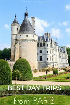 Best Day Trips from Paris | Gardens, chateaux, theme parks, wine or gorgeous architecture. No matter what your interest there's a day trip from Paris to suit you. Click the image to learn more.