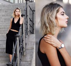 Get this look: http://lb.nu/look/8534293  More looks by Ebba Zingmark: http://lb.nu/ebbaz  Items in this look:  Cluse Watch, Asos Top, Topshop Pants   #casual #edgy #street