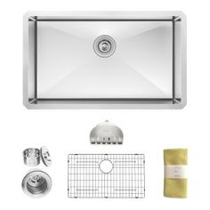 3. Zuhne 30 Inch Undermount Single Bowl 16 Gauge Stainless Steel Kitchen Sink