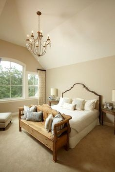 Neutral Bedroom   Looks Sorta Similar To Restoration Hardware Lorraine Bed