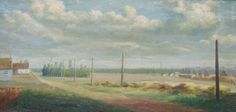Painting of a refugee camp in Zeist for Belgian soldiers and civilians mady by L. Declercq. Europeana 1914-1918, CC BY-SA