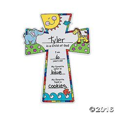 "Color Your Own ""Child Of God"" Crosses. Kids love to color these 11 1/4 paper crosses!"