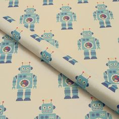 Robots Wrapping Paper now featured on Fab.