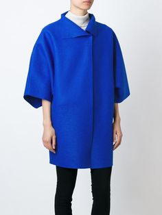 wide three-quarter length sleeve coat
