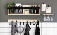 Bilderesultat for granit väggfack Wall Storage, Storage Organization, Storage Ideas, Kitchen Hacks, Interior Design Inspiration, Clean House, Bathroom Medicine Cabinet, Magazine Rack, Shelving