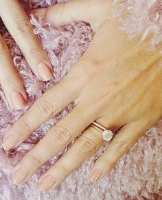 Love Lauren Conrad's engagement ring? This simple, elegant four prong setting in rose gold is easy to recreate at ANY budget. See how here.  http://www.ringvoyeur.com/2014/11/lauren-conrads-engagement-ring-get-look.html