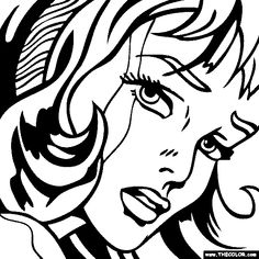 Pop Art Hair Comics Roy Lichtenstein 22 New Ideas Roy Lichtenstein, Outline Drawings, Art Drawings, Desenho Pop Art, Pop Art Girl, Pop Art Illustration, Famous Art, Arte Popular, Colouring Pages
