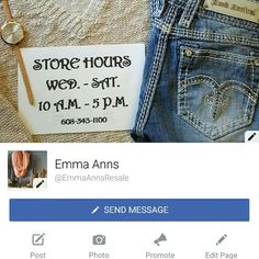 """Boots/ Shoes, Jewelry/Accessories, Tunics/Tanks Check out our Facebook page, Emma Anns! (@EmmaAnnsResale) We carry all sizes & brands from Maurices, American Eagle, Hollister, Steve Madden & Mossimo to all the Buckle brands including Gimmicks by Bke, Daytrip, Miss Me & More! All items are New with/without tags or nearly New condition! """"LIKE"""" the page to keep updated on sales & New arrivals. See something you like on our page?? Just ask & we can list on Posh for you! Much love & Happy Poshing…"""