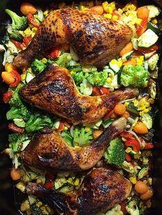 Hähnchen auf Gemüsebett, ein sehr leckeres Rezept aus der Kategorie Braten. Bewertungen: 8. Durchschnitt: Ø 3,9.