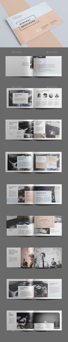 Minimal Brochure Template InDesign INDD. Download here: https://graphicriver.net/item/minimal-brochure-vol-ii/17304552?ref=ksioks