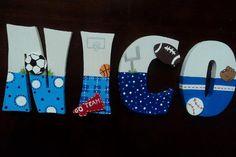 Cartas infantiles personalizados - colgante de pared madera - bebé nombre Letras…