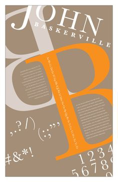 Baskerville Poster by Katherine Carberry, via Behance