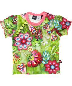 Molo frisgroene baby t-shirt met funky libelle print. molo.nl.emilea.be