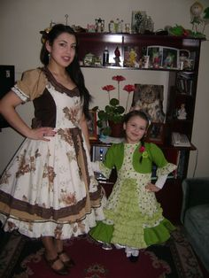 Chilean typical dress. Me and my daughter September 2014