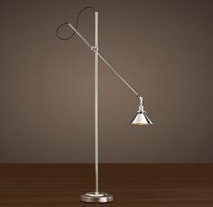 1900S Machinist Floor Lamp Polished Nickel