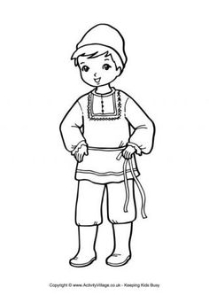 traditional multicultural coloring pages for kids