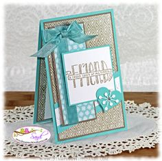 Stampin Up Banner Blessings for Mojo Monday www.stampingwithsandi.com