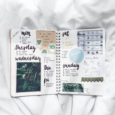 "(@intellectants) no Instagram: ""bullet journal spread from two weeks ago that i forgot to post. it wasn't meant to be green; meant…"""