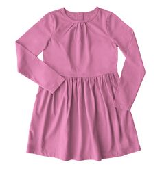 the long sleeve dress - Only from Primary - Solid color kids clothes - No logos, slogans, or sequins - All under $25