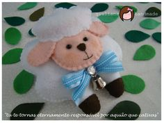 Giuliana - Original Handmade: MOLDE OVELHA EM FELTRO - Meu molde do mês!