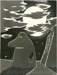 Vintage book illustrations, Tove Jansson the groke Tove Jansson, Photography Illustration, Children's Book Illustration, Book Illustrations, Moomin Books, Moomin Valley, Mary Blair, Lewis Carroll, Helsinki