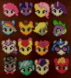 My Little Pony Perler beads by CraftinNerdy on deviantART Perler Bead Designs, Perler Bead Templates, Hama Beads Design, Melty Bead Patterns, Pearler Bead Patterns, Perler Patterns, Beading Patterns, Perler Beads, Perler Bead Art