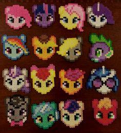My Little Pony Perler beads by CraftinNerdy on deviantART
