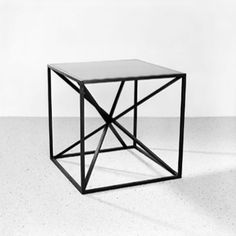 Christophe Delcourt oak & lacquered steel side table