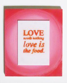 Love is the food. by guidopierandrei on Etsy, $52.00