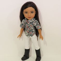 Hearts for Hearts Doll Clothes 2 PC. Blouse and by AmericAnnMade