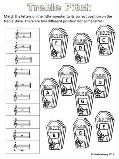 24 Music printable. Complete and color!