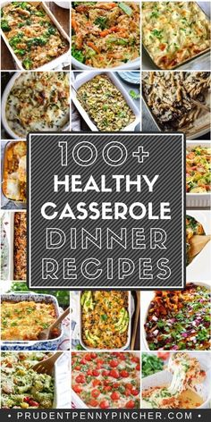 Enjoy a hearty and healthy casserole for dinner with one of these easy casserole recipes. These healthy casseroles are chalked full of veggies and substitute heavier ingredients with things like zoodles, quinoa, cauliflower so that Dinner Casserole Recipes, Healthy Casserole Recipes, Healthy Dinner Recipes, Diet Recipes, Vegetarian Recipes, Healthy 30 Minute Meals, Freezer Meals Healthy, Healthy Kid Friendly Dinners, Cooking