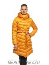 Пальто стеганное удлиненное HOOPS желтое