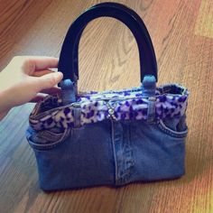 Denim Bag Small bag made out of jeans. Never been used! Super cute! Perfect for a little girl! No trades or Paypal on any items Added: 7/30/14 please read closet rules price dropped: 6/3/15 Bags