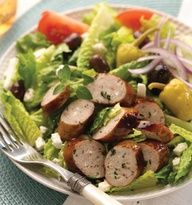 ... roasted garlic chicken sausage caesar salad recipe pinned from