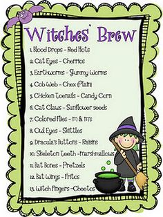 Witches' Brew Snack Mix - fun!