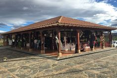 This is a collection of shops and little cafes all under one roof. Its colonial-style architecture is readily found in Villa de Leyva, Boyacá. #Colombia #Travel
