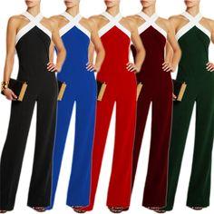 HOT Moda Donna Baggy tuta pagliaccetto pantaloni casual Loose Romper S ~ XL