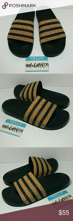 buy online 00459 4d531 Adidas Originals Adilette Cork Slides Wmns size 10 BRAND NEW (NWOT) pair of  Adidas