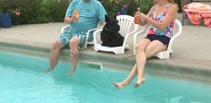 This clever hack will make a plastic chair even more useful on your pool deck