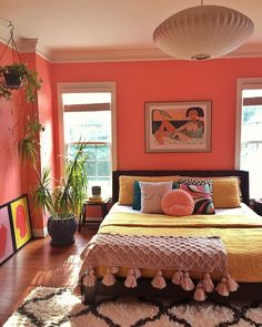 Pad Peek Living in Color with Stacey Blake of Design Addict Mom Jungalow by Justina Blakeney Home Design, Blog Design, Home Interior Design, Aesthetic Rooms, Deco Design, Design Design, Home And Deco, Dream Rooms, Home Bedroom