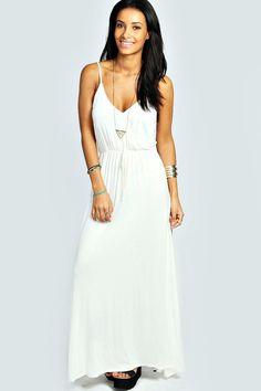 Maggie Wrap Over Top Strappy Maxi Dress Wrap Over Top 85f1e8347