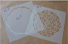 Diseños de stencil de flor par pared gratis - Imagui