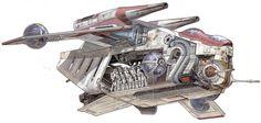 Artist Spotlight: Hans Jenssen and Richard Chasemore Star Wars Clones, Star Wars Clone Wars, Rpg Star Wars, Nave Star Wars, Star Wars Ships, Star Trek, Starwars, Republic Gunship, Star Wars Spaceships