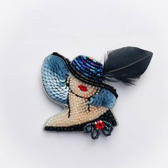 Tambour Embroidery, Hand Embroidery Videos, Bead Embroidery Patterns, Bead Embroidery Jewelry, Fabric Jewelry, Bead Embroidered Bracelet, Beaded Brooch, Handmade Beaded Jewelry, Brooches Handmade