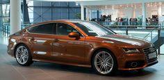 Audi A7 in Ipanema Brown.
