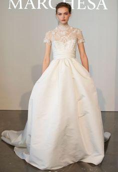 La romántica colección de novia de Marchesa 2015