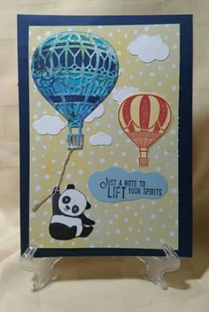 Stampin' Up! Lift Me Up and Sale a Bration Party Pandas.